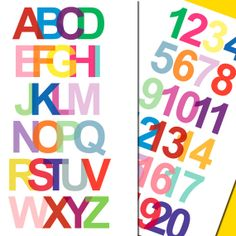 Alphabet and Numbers Art Prints - (2) 11 x 17 ABCs and 123s Posters