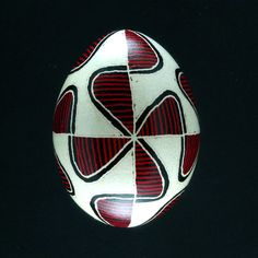 Pysanky Ukrainian Easter Egg Red Bleach S Hand by JustEggsquisite, $24.00