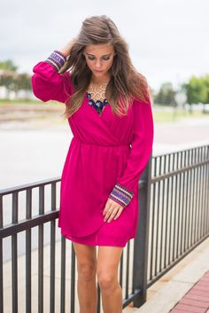Less Is Always More Dress, Fuchsia