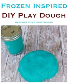 This homemade Frozen Play Dough is a super easy project to make with the Disney lover in your home.