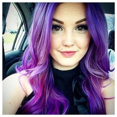 This pretty lady used manicpanic's semipermanent #vegan haircolor in ultraviolet