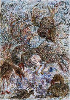 "Saatchi Online Artist Nada  Sucur Jovanovic; Painting, ""The birds"" #art"