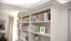 So verwandelst du dein Billy von Ikea in ein edles Einbauregal – Kallax Ideas 2020 Billi Regal, Billy Regal Hack, Billy Ikea, New Swedish Design, Bodbyn, Ikea Hacks, Kallax, Bookcase, Sweet Home