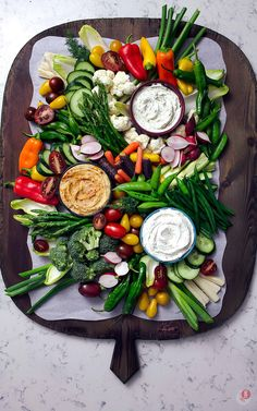 The Easiest Crudité Tray | Take Two Tapas | #CruditéTray #CruditéPlatter