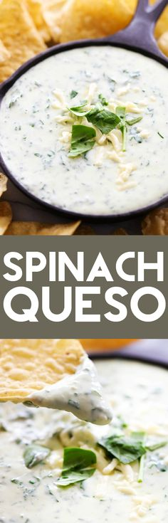 This Spinach Queso is an easy and delicious appetizer that is a total crowd pleaser! It is simple to whip up and the flavor is outstanding. It is creamy, cheesy and tastes delicious!