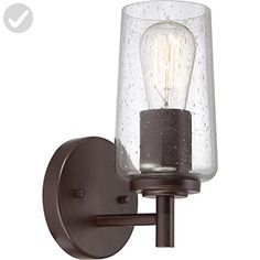 Quoizel EDS8601WT Edison with Western Bronze Finish,  Bath Fixture and 1 Light,  Brown - Unique lighting lamps (*Amazon Partner-Link)