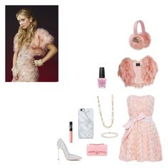 """""""Chanel number 3 scream queens get the look"""" by greta-a-tebbe ❤ liked on Polyvore featuring Chanel, SLY 010, Judith Jack, Lipsy, Blue Nile, NARS Cosmetics, Uncommon, Casadei and OPI"""
