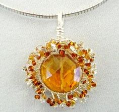 2 wonderful Wire Wrapped Sunburst Pendant Tutorials