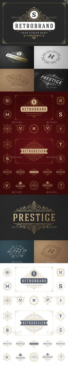 25 Ornaments Logotypes and Monograms Download: http://graphicriver.net/item/25-ornaments-logotypes-and-monograms/11039495?ref=ksioks