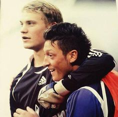 Young Neuer with Ozil