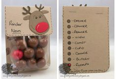 Reindeer noses for a Christmas treat (minus the red gun ball *gross* instead all brown ones and instead of Reindeer Noises how about Raindeer Poops ; Noel Christmas, Christmas Goodies, Christmas Candy, Homemade Christmas, Christmas Treats, Christmas Decorations, Christmas Tables, Nordic Christmas, Modern Christmas