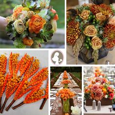 fall wedding flowers | Visit our Rust Orange Fall Wedding Flowers Inspiration Board on ...