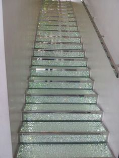 Staircase at Swarowski store in Champelleyes Paris.