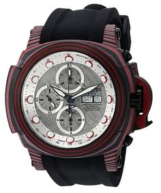 91ff0d57dcb Invicta Men s  Reserve  Automatic Stainless Steel and Silicone Casual  Watch