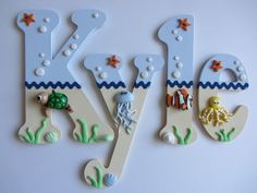 Wooden Nursery / Bedroom Letters / Under The Sea Themed / Handmade Gift Idea in Home, Furniture & DIY, Home Decor, Plaques & Signs | eBay