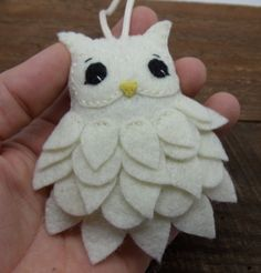 Felt Owl Ornament by BananaBugAndZod on Etsy                                                                                                                                                                                 More