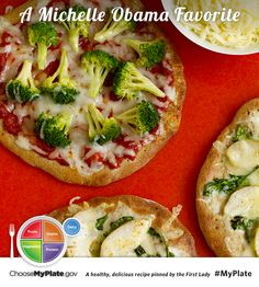 Whole Wheat Pizzas #veggies #myplate #myplatebirthday