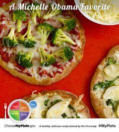 Whole Wheat Pizzas #veggies #myplate #myplatebirthday