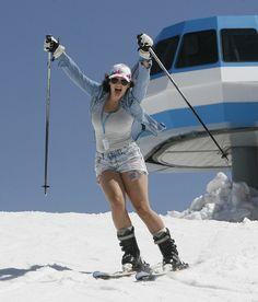 A skier gets into the spirit on the last day of skiing at Snowbird Resort, May (Scott Sommerdorf Ski Resorts, Ski And Snowboard, Utah, Skiing, Celebrations, Photo Galleries, Powder, Salt, Ski