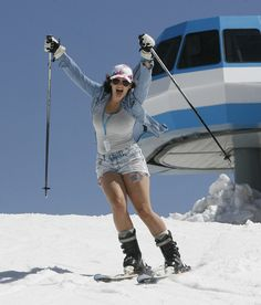 A skier gets into the spirit on the last day of skiing at Snowbird Resort, May 27, 2013. (Scott Sommerdorf   |  The Salt Lake Tribune)