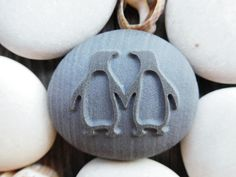 NEW Personalized Penguin Pebble Penguin engraved stone