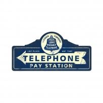 This Telephone Pay Station Tin Sign is perfect next to a retro phone booth. A great addition to a business or a home. Made of steel in the USA. Measures 26 x 12 inches. Phone Companies, Local Companies, Vintage Tools, Vintage Signs, Printable Flower Pictures, Retro Phone, Phone Books, Vintage Telephone, Old Phone
