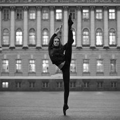 standing split ballet