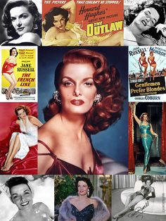 Ernestine Jane Geraldine Russell (June 21, 1921 – February 28, 2011) was an American film actress & one of Hollywood's leading sex symbols in the 1940s & 50s. In 1940, she signed a seven-year contract with Howard Hughes & made her motion picture debut in The Outlaw (1943), a film that went to great lengths to showcase her voluptuous figure. She starred in more than 20 films, including 1953's Gentlemen Prefer Blondes with Marilyn Monroe. In 1955, she founded the World Adoption International…