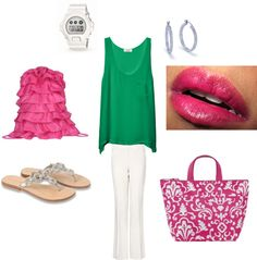 """Summer Vacation outfit using Thirty-One"" by suzy-stuff on Polyvore"