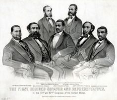 The First Colored Senator and Representatives in the 41st and 42nd Congress of the United States.
