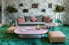 FLEXFORM MOOD VALERY SOFA AND FAUNO SMALL TABLES DESIGNED BY ROBERTO LAZZERONI AND BANGKOK OTTOMANS furnish the exclusive Vip Room at #ChopardRooftop during Festival de Cannes 2016 #ChopardRooftop