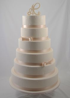 Wedding Cake White Pearls - Piece Montee Mariage Perles Blanches - Bruidstaart
