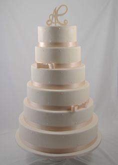 Wedding Cake White Pearls - Piece Montee Mariage Perles Blanches - Bruidstaart