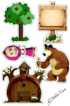 Sophia Gabrielli 1 mês Bear Birthday, Girl Birthday, Masha Cake, Masha Et Mishka, Marsha And The Bear, Disney Cars Party, Bear Images, Bear Theme, Bear Party