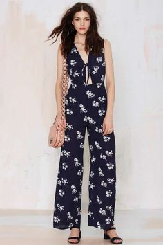 Midnight Garden Cutout Jumpsuit