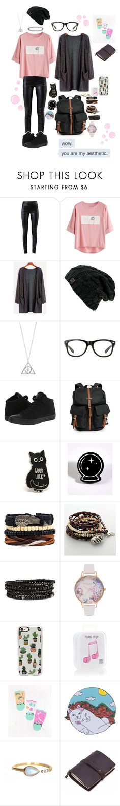 """You Are My Aesthetic"" by random-spacepal ❤ liked on Polyvore featuring Helmut Lang, Converse, Herschel Supply Co., Witch Worldwide, Mudd, Olivia Burton, Casetify, Happy Plugs, RIPNDIP and La Kaiser"