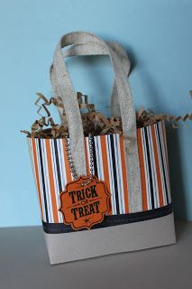 Just Julie B's Stampin' Space: Trick or Treat Tote for Class this Week!