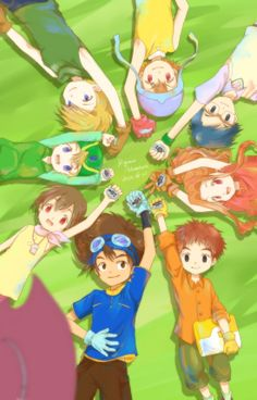 Digidestined and their Digivices - Tai, Kari, T.K., Matt, Sora, Joe, Mimi and…