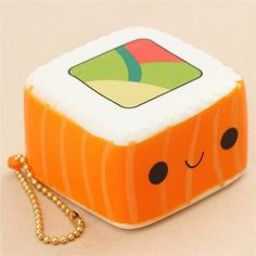 scented orange and white sushi square food squishy - Cute Squishy Shop Stress Cube, Cute Squishies, Happy Colors, Bffs, Cars For Sale, Invites, Otaku, Sushi, Fun Stuff