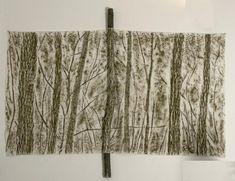 PENONE Giuseppe (né en 1947), Le vert du bois, 1987, frottage au fusain, peinture sur toile, branche d'arbre. Giuseppe Penone, Eva Hesse, Max Ernst, Paper Drawing, A Level Art, Conceptual Art, Land Art, Art Plastique, Collage Art
