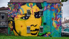 Artist: Stinkfish.Bringing Bogota to Bristol, this blazing wall of colour faces out from a residential street.