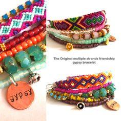 Hippie bracelet  multiple strands beaded bracelet by OOAKjewelz, €78,00