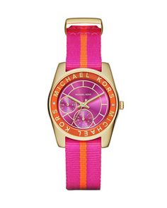 33mm+Ryland+Grosgrain-Strap+Watch+by+Michael+Kors+at+Neiman+Marcus.