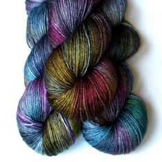 Silk and Merino Fingering Yarn by JulieSpins