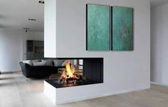 White room Modern Contemporary fireplace