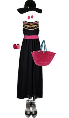 """Night by the Beach"" by angela-windsor on Polyvore"