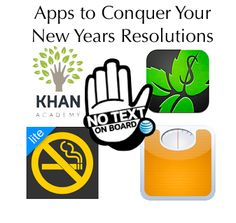 Apps to help with popular New Years resolutions!  All free! Need these for sure!