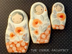 It's only Monday, but I'm throwing it back to some Fall Matryoshka Cookies. (Also, I'm the dork who is loving zooming in on these. Zoom is cool. Fancy Cookies, Iced Cookies, Cute Cookies, Cupcake Cookies, Frosted Cookies, Cupcakes, Cookie Frosting, Royal Icing Cookies, Bolacha Cookies