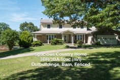 Rambling country home, 3BR/3BA, large rooms, stone fireplace, office, family rm, living rm, formal dining rm, mud rm, rec rm, covered porch, screened patio, gazebo, pool, storage, 2 car gar, basement, det shop/gar, barn, pond, fenced, private country living, shaded yards, ready for horses, perfect for peaceful walks in the woods, quiet rural neighborhood, kids can play outside. Close to town, medical, restaurants, shops, Bull Shoals, Norfork Lakes, White, Norfork, Buffalo Rivers in Mountain…