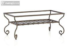 Estuctura mesa de centro de forja para mosaico. #jardin #decoracion #fustaiferro www.fustaiferro.com